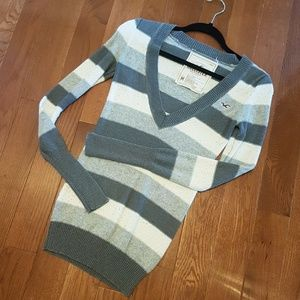 Super Long Deep V Neck Hollister Sweater